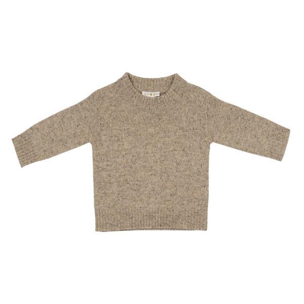 Grown Speckle Merino Pull Over - Stone