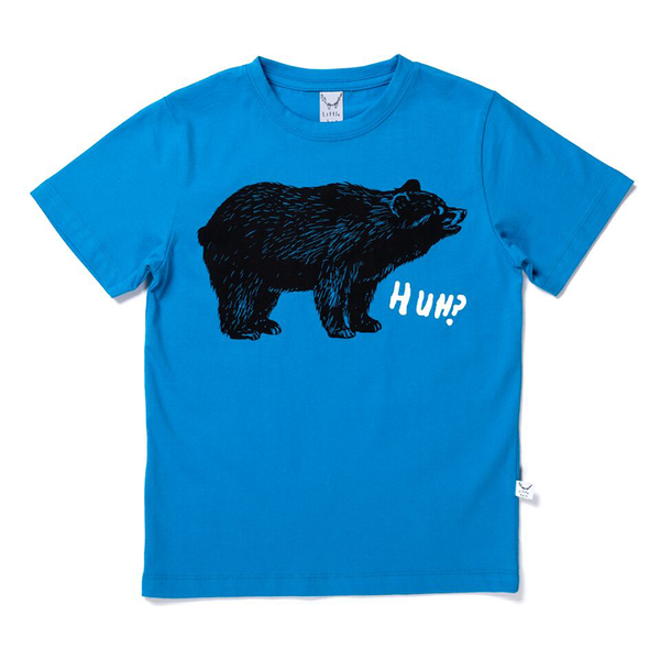 Littlehorn Bewildered Bear Tee - Elec Blue