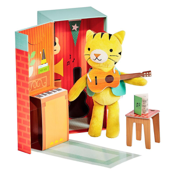 Petit Collage Playset - Theodore The Tiger
