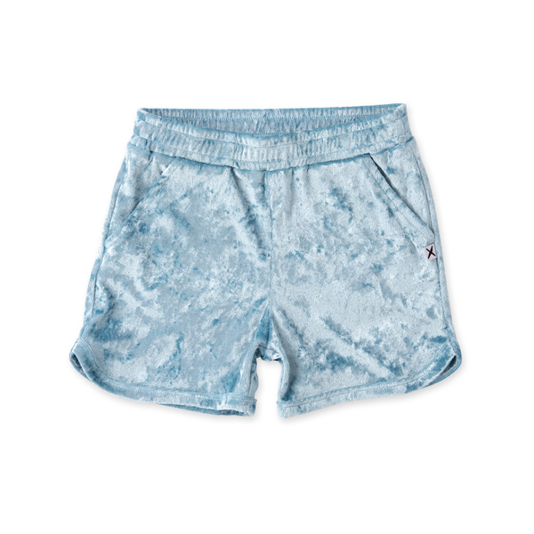 Minti Velvet Sport Short - Light Blue