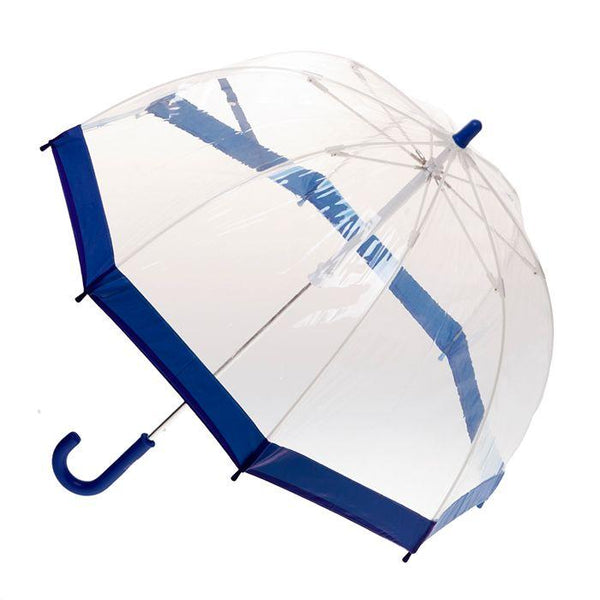 Birdcage Umbrella - Navy Border