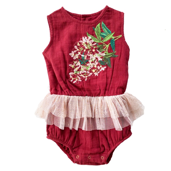 Bella & Lace Snowflake Romper - Clause