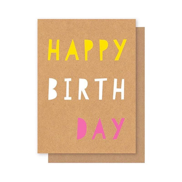 Elly Oak Card -Happy Birthday Bold Font