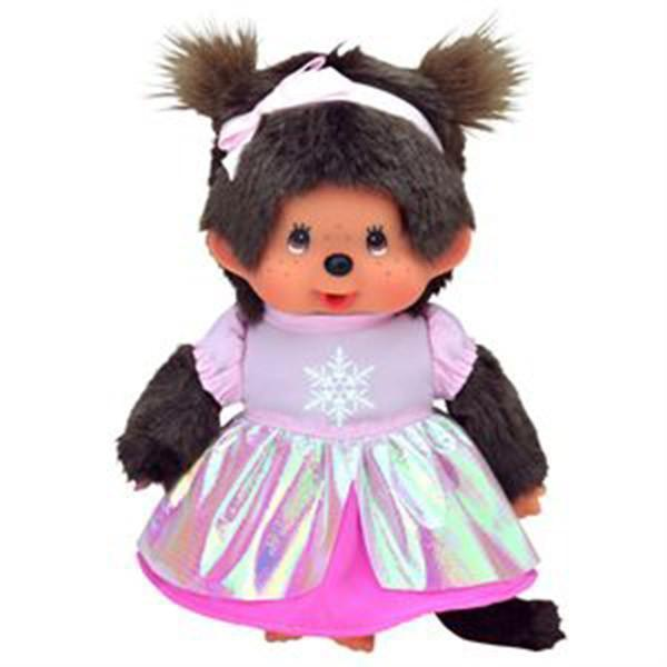 Monchhichi Doll - Pink Princess Girl
