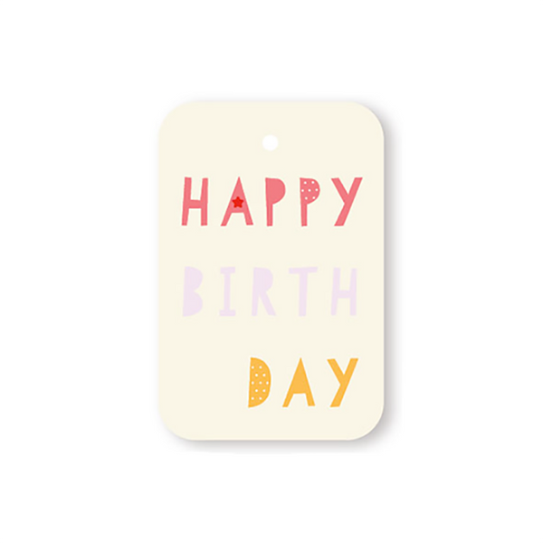 Elly Oak Tag - Happy Birthday Letters