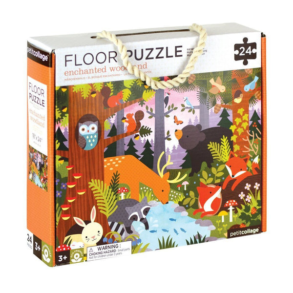 Petite Collage Floor Puzzle - Enchanted Woodland