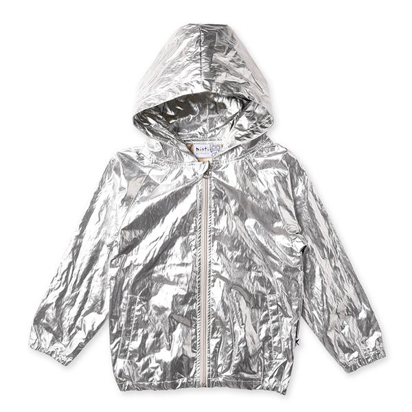 Minti High Shine Anorak - Silver
