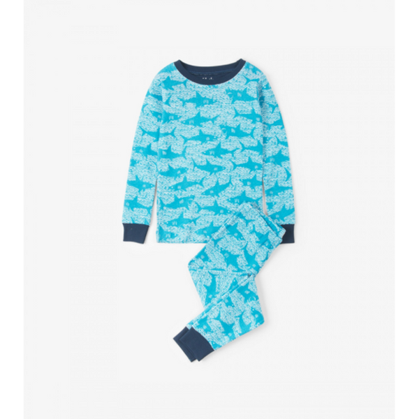 Hatley Pajama Set - Shark Alley