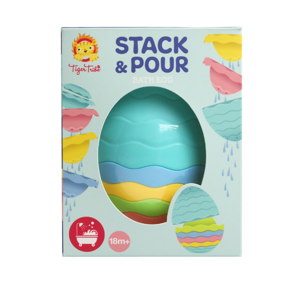 Tiger Tribe Stack And Pour - Bath Egg
