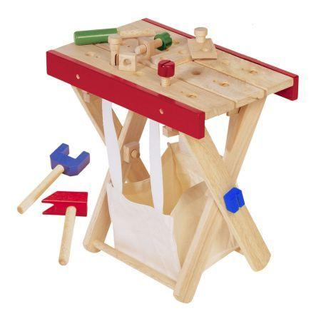 wooden buliding bench for kids