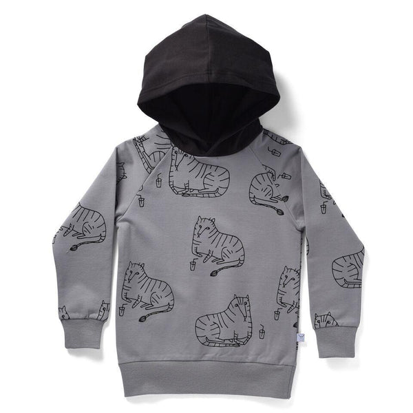 Littlehorn AW18 Chilling Tigers Hood - Grey