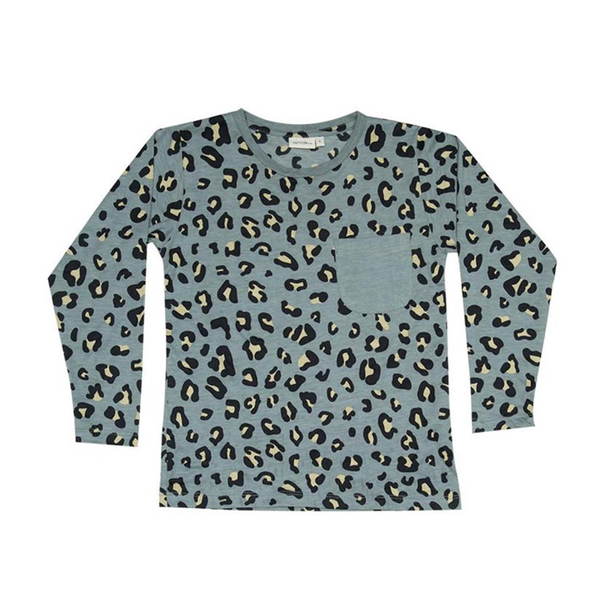 Zuttion L/S Round Neck T - Grey Leopard