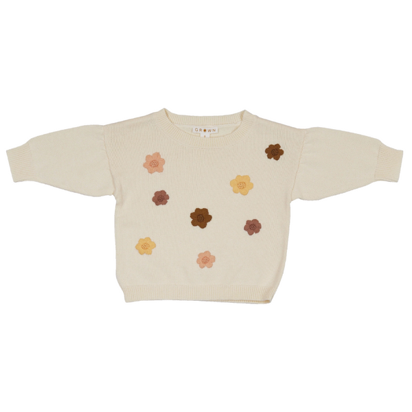 Grown Flower Power Pull Over - Milk