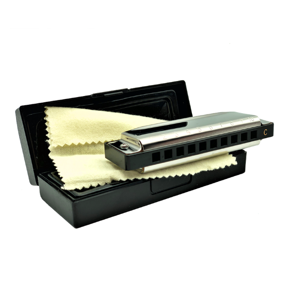 Metal Harmonica - 10 Holes in Case