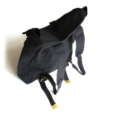 Black Canvas Backpack - Shorties Childrens Store