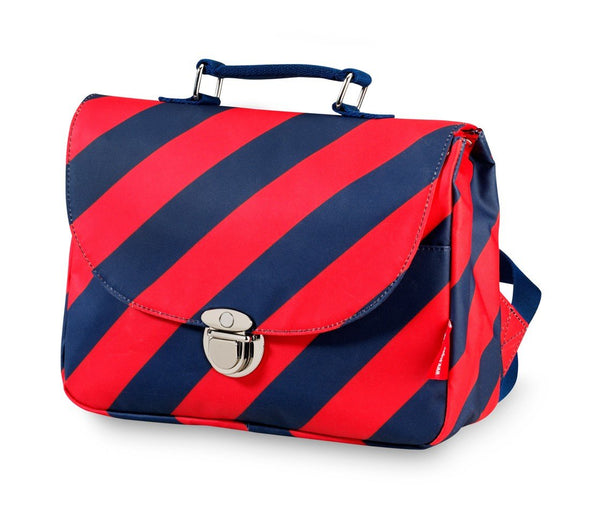 Engel Small School Bag - Navy/Red