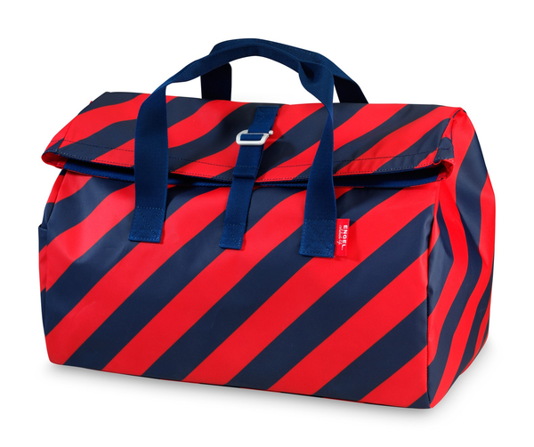 Engel Overnight Flip Bag - Navy/Red