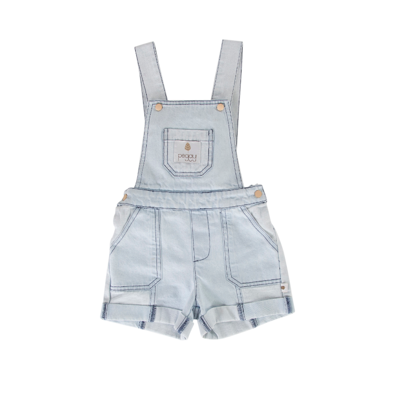 Peggy Feather Overalls - Denim