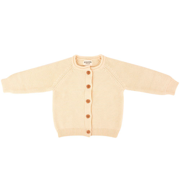 Ponchik Cotton Knit Cardigan - Oatmeal