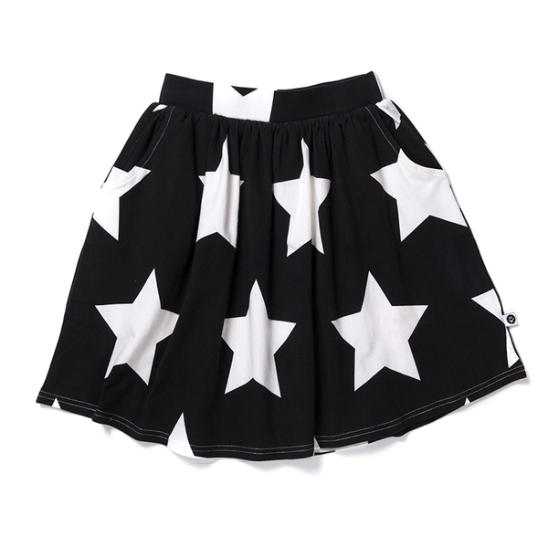 Littlehorn Stars Skirt Black