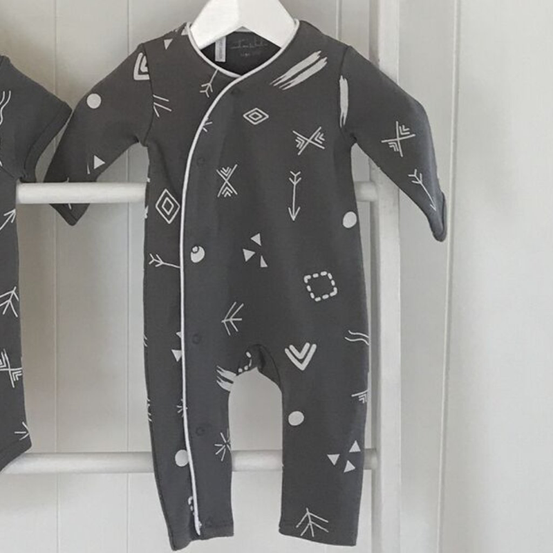 Cool babies onesie by Emotion Kids -Onesie - Charcoal Doodle