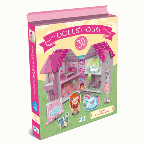 Sassi 3D Dollhouse w Book