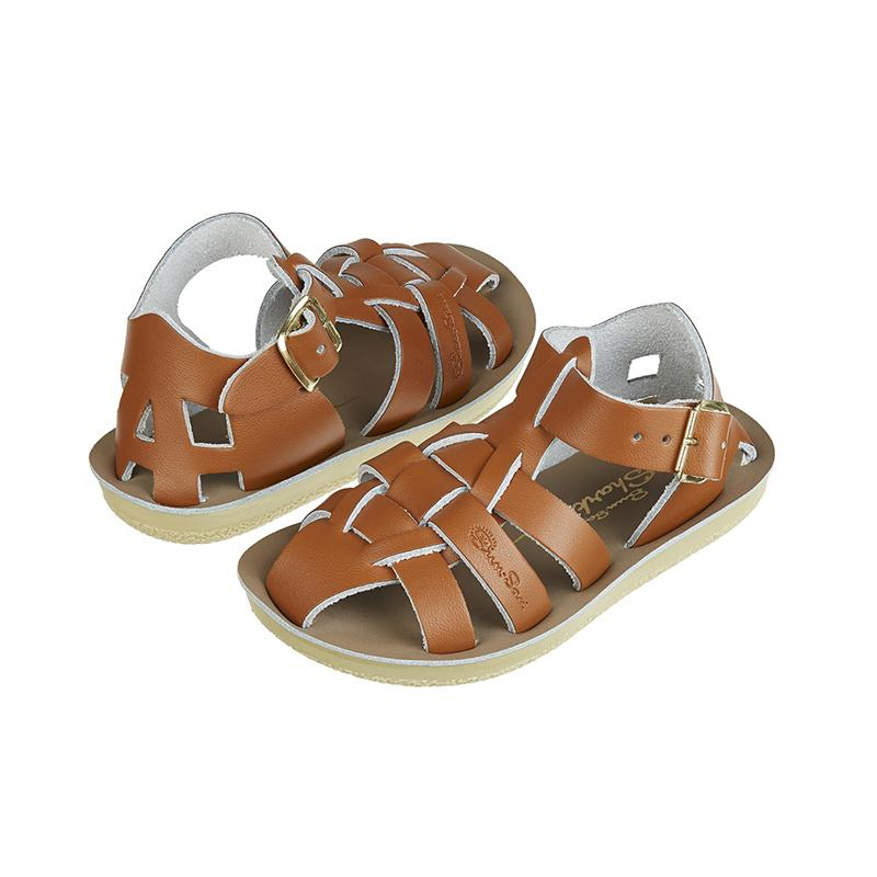 Saltwater Shark Sandals - Tan