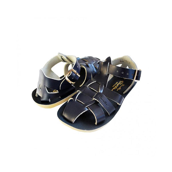 Saltwater Shark Sandals - Navy