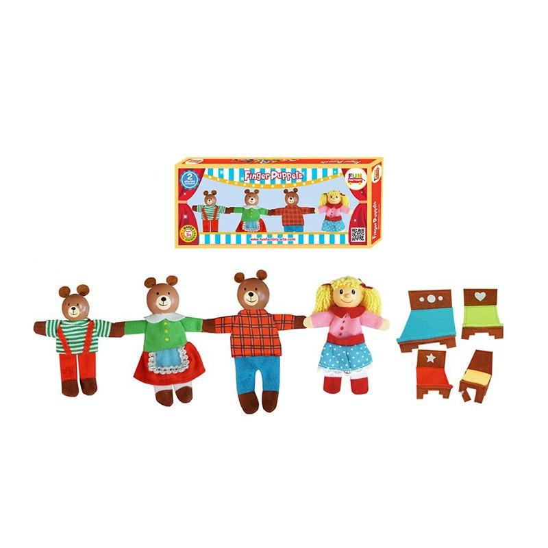 Finger Puppet Set - Goldilock & 3 Bears
