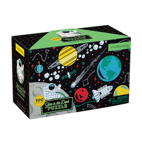 Outer Space Glow-in-the-dark Puzzle - Mudpuppy