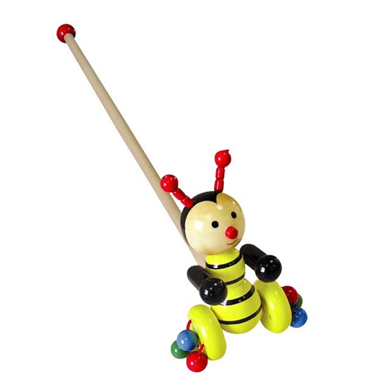 Wooden Push Toy - Bee