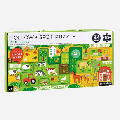 Petit Collage Follow & Spot Puzzle - At The Farm. Kids store Sydney