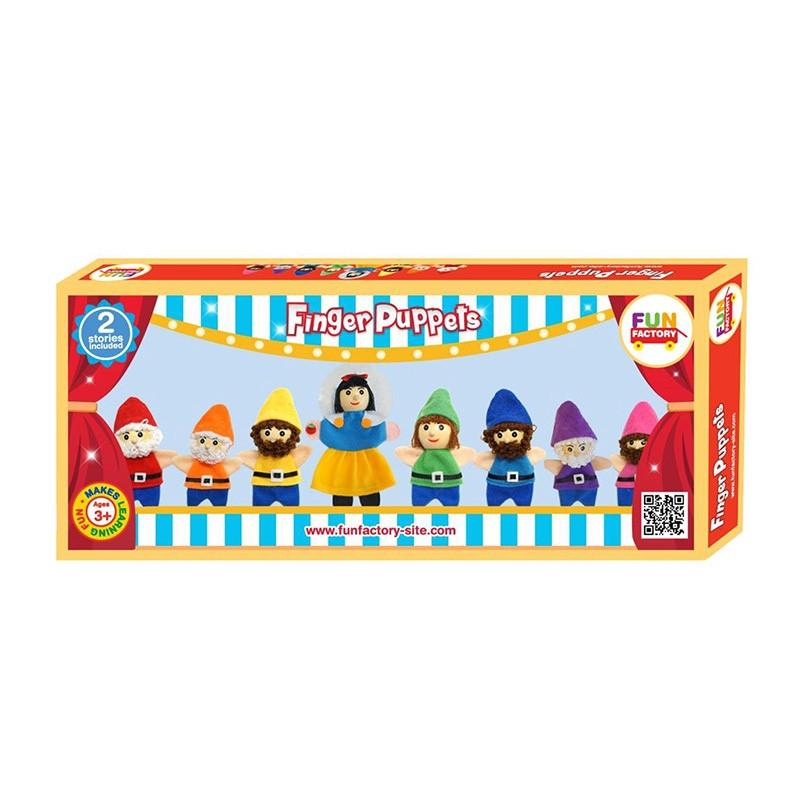 Finger Puppet Set - Snow White & 7 Dwarfs