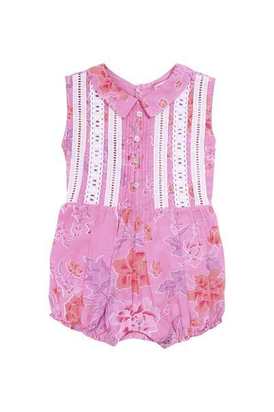 Coco and Ginger Cinnamon Sunsuit - Batik Rose
