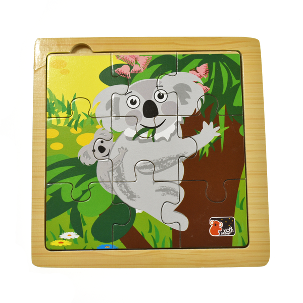 Wooden 9 PC Jigsaw Puzzle - Koala