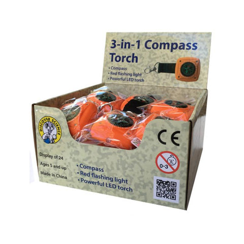 3-in-1 Compass Torch