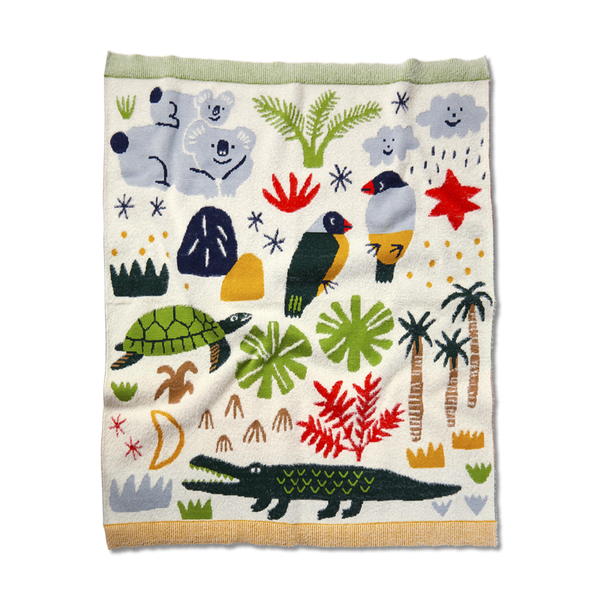 Halcyon Nights Knit Blanket - Beach Forest