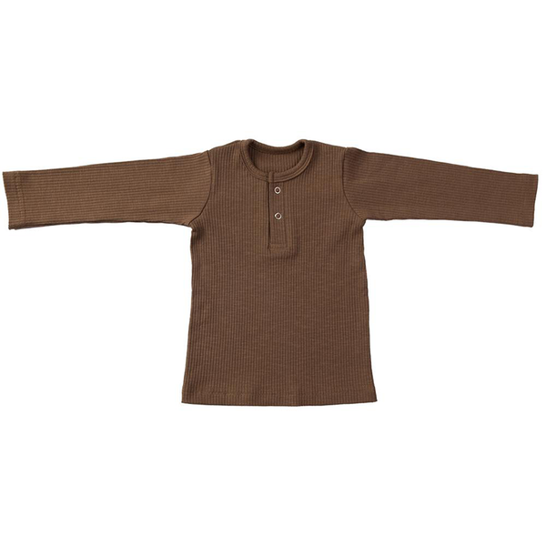 Ponchik Cotton LS Henley - Maple Syrup