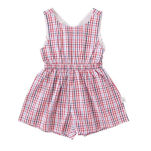 Peggy SS18 Stella Playsuit In Check