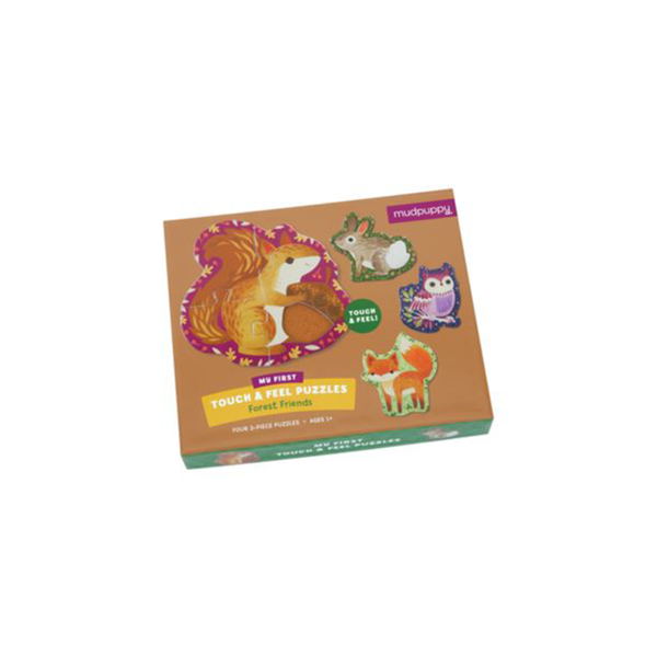 Mudpuppy Touch & Feel Puzzle - Forest Friend