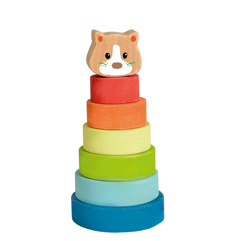 Stacking toy Pyramid cat Classic wooden toy at Shorties