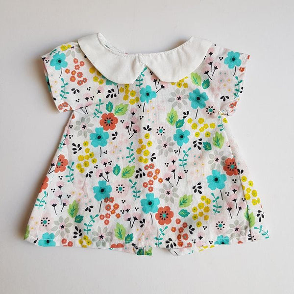 Handmade Doll Dress - Spring Floral fits large miniland