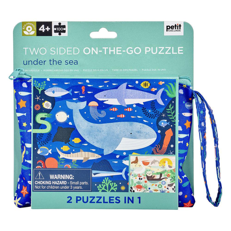 Petit Collage Two Sided On The Go Puzzle - Sea
