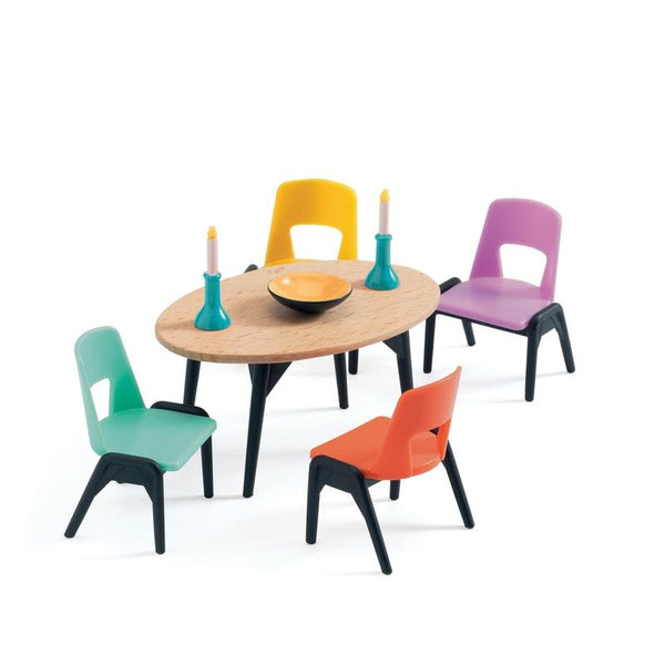 Djeco doll house furniture The Dining Room - Multi Colour