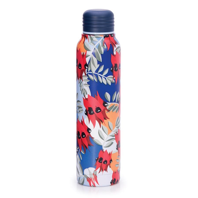 Aus Collection Water Bottle - Sturt's Dessert Pea