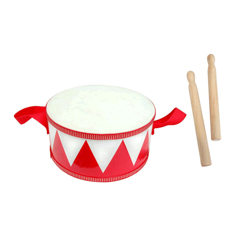 Drum 20cm w Sticks - Red