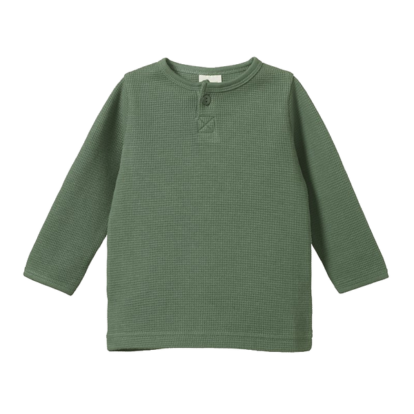 Nature Baby Henly Tee Waffle - Olive
