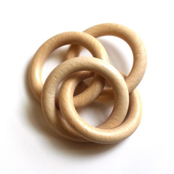 Baby Rattle Wooden Rings