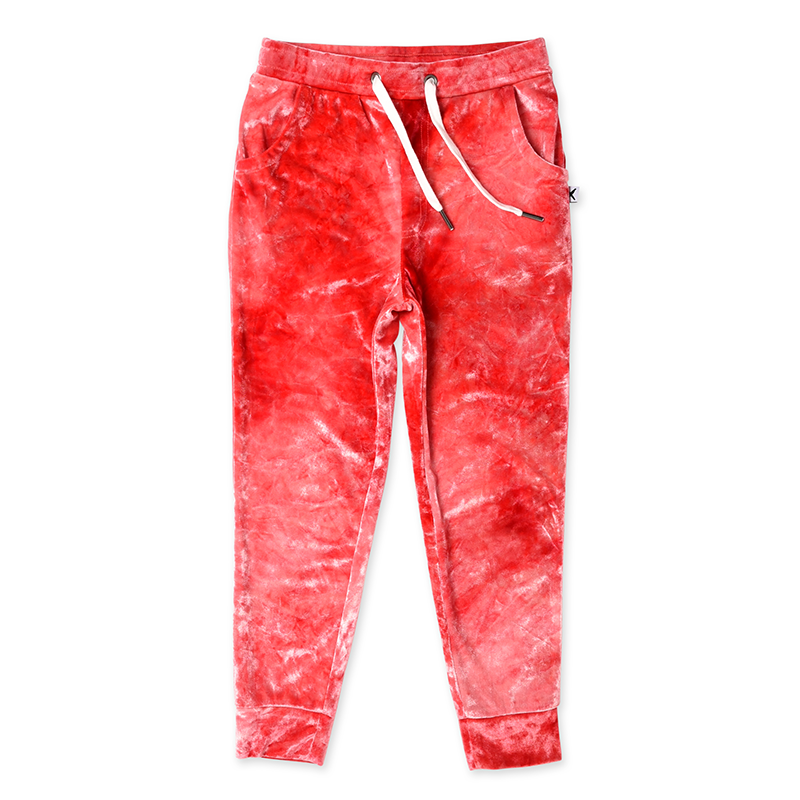 Minti Velvet Trackies - Red Tie Dye