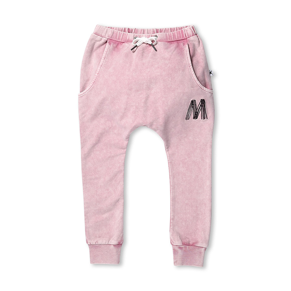 Minti Meadow Trackies - Rose Wash